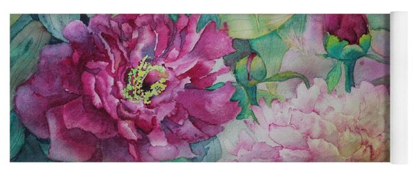 Yoga Mat featuring the painting Queen Of The Garden by Ruth Kamenev