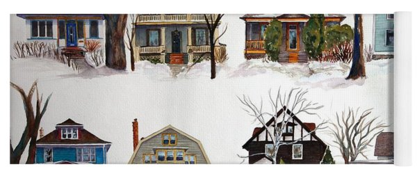 Yoga Mat featuring the painting Raglan Road - Early Spring by Ruth Kamenev
