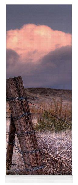 Ranch Fence Post Yoga Mat