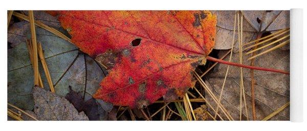 Red Leaf Yoga Mat