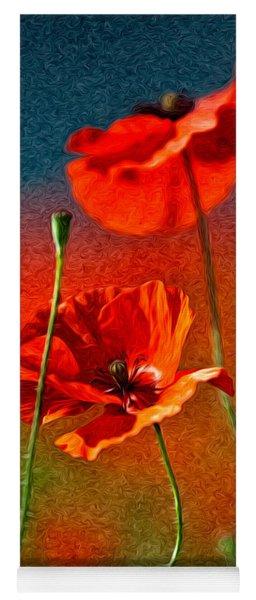 Red Poppy Flowers 08 Yoga Mat