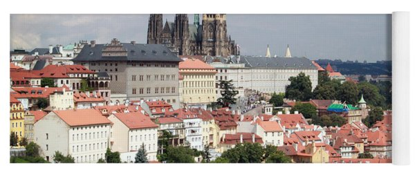 Red Rooftops Of Prague Yoga Mat