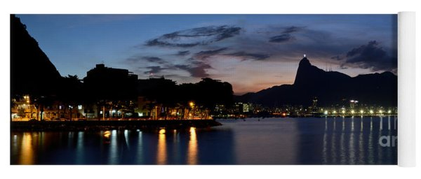 Rio Skyline From Urca Yoga Mat