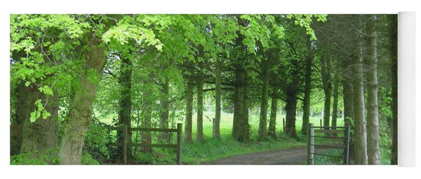 Road Into The Woods Yoga Mat