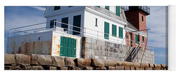 Rockland Breakwater Lighthouse Yoga Mat
