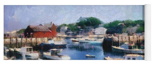 Rockport Maine Harbor Yoga Mat