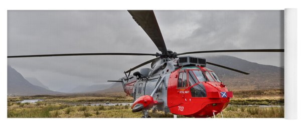 Royal Navy Sar Sea King Xz920 Glencoe Yoga Mat