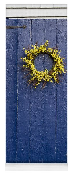 Rustic Blue Door. Yoga Mat