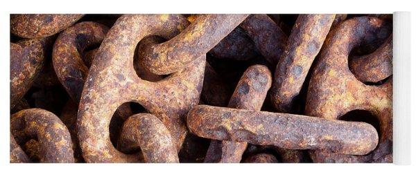 Rusty Anchor Chains In Key West Yoga Mat