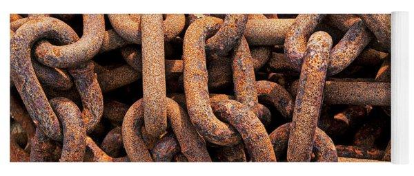 Rusty Ships Chain Yoga Mat