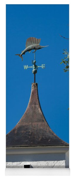 Sailfish Weather Vane At Palm Beach Shores Yoga Mat