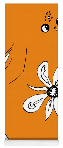 Serenity In Orange Yoga Mat