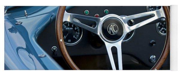 Shelby Ac Cobra Steering Wheel Yoga Mat