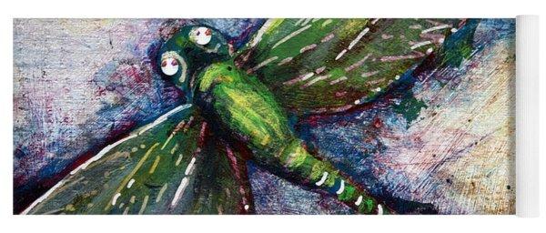 Silver Dragonfly Yoga Mat