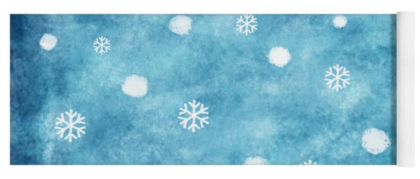 Snow Winter Yoga Mat