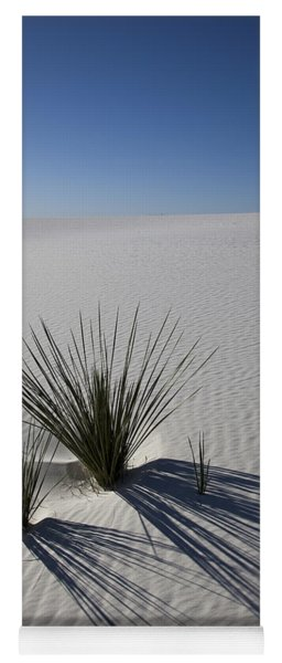 Soaptree Yuccas On White Sands Yoga Mat