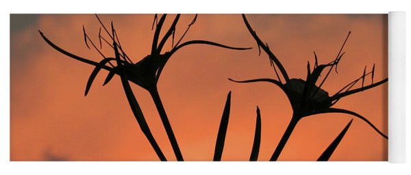 Spider Lilies At Sunset Yoga Mat