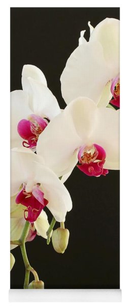 Spray Of White Orchids Yoga Mat