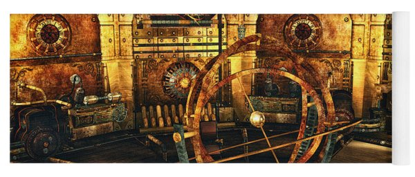 Steampunk Time Lab Yoga Mat