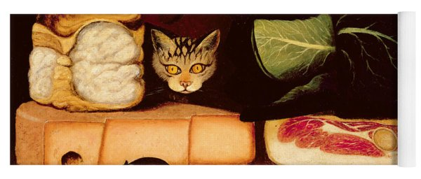 Still Life With Cat And Mouse Yoga Mat