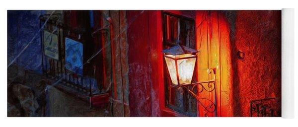 Street Light On Calle Quebrada Yoga Mat