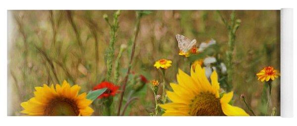 Sunflowers In  The  Wild  Yoga Mat