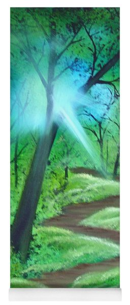 Sunlight In The Forest Yoga Mat