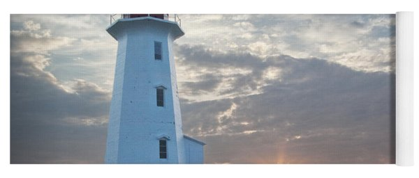 Sunrise At Peggys Cove Lighthouse In Nova Scotia Number 041 Yoga Mat