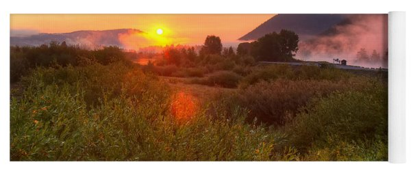 Sunrise At Snake River Yoga Mat