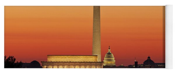 Yoga Mat featuring the photograph Sunrise Over Washington Dc by Brian Jannsen