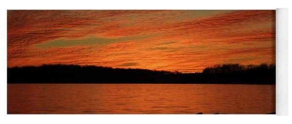 Sunset And Kayak Yoga Mat