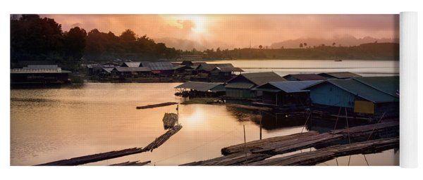 Sunset At Fisherman Villages  Yoga Mat
