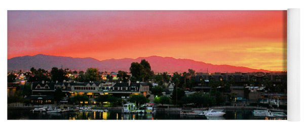 Sunset On Lake Havasu Yoga Mat