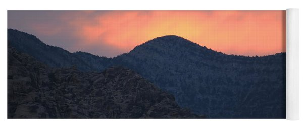 Sunset Over Red Rock Yoga Mat