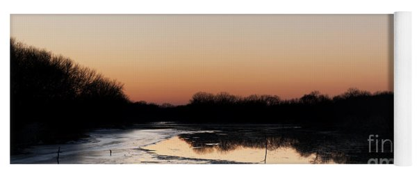 Sunset Over The Republican River Yoga Mat