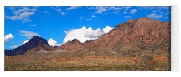 The Chisos Mountains Big Bend Texas Yoga Mat