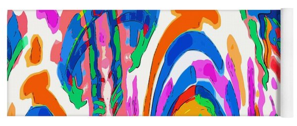 The Colors Fountain Yoga Mat