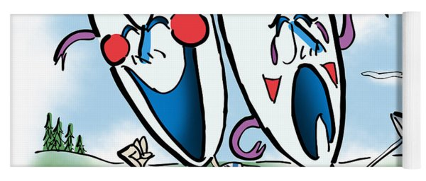 The Two Faces Of Golf Yoga Mat