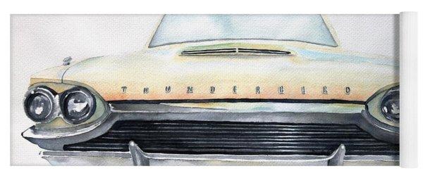 Yoga Mat featuring the painting Thunderbird by Ruth Kamenev