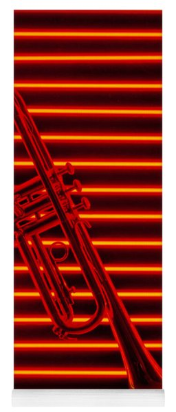 Trumpet And Red Neon Yoga Mat