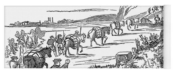 Tudor Period: Pack Horses Yoga Mat