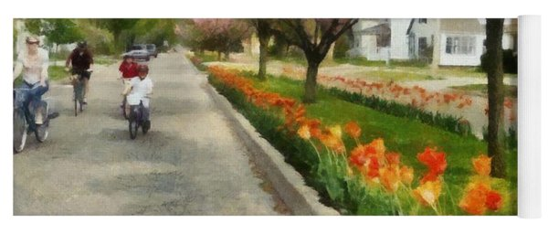 Tulips On The Boulevard Holland Michigan Yoga Mat