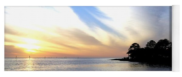 Yoga Mat featuring the photograph Twilight On The Gulf by Judy Hall-Folde