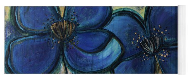 Two Blue Poppies Yoga Mat