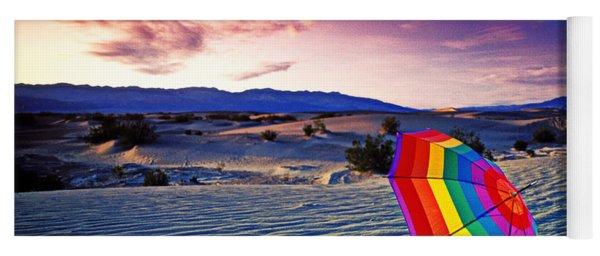 Umbrella On Desert Sands Yoga Mat