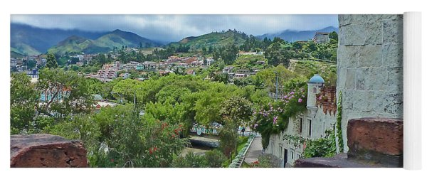 View From The City Walls - Loja - Ecuador Yoga Mat