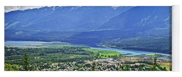 View Of Revelstoke In British Columbia Yoga Mat