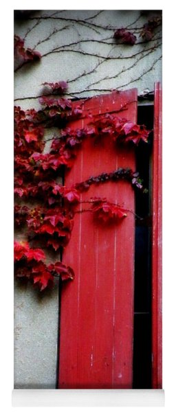 Vines On Red Shutters Yoga Mat