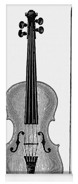 Violin And Bow Yoga Mat