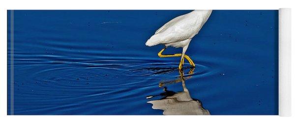 Walking Egret Yoga Mat